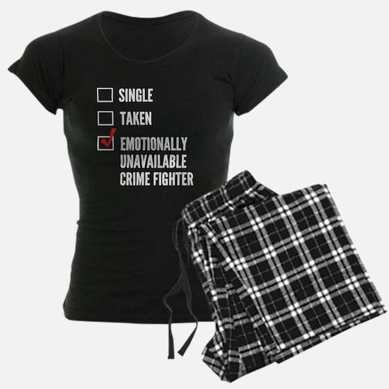 Single Crime Fighter Pajamas