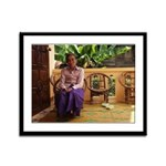 Seated Woman - Thailand - Framed Panel Print