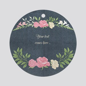 Vintage Roses Ornament (Round)