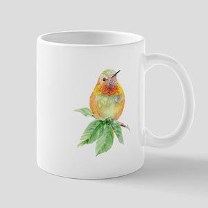 Rufous Hummingbird Watercolor Bird Nature Art Mugs
