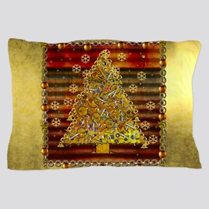 Metal Art Holiday Tree Pillow Case
