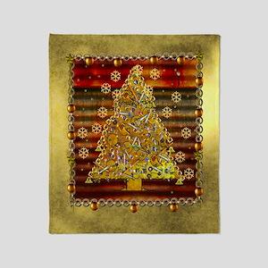 Metal Art Holiday Tree Throw Blanket