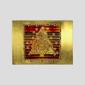 Metal Art Holiday Tree 5'x7'Area Rug