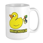 Farting Duck Large Mug
