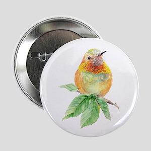 """Rufous Hummingbird Watercolor Bird 2.25"""" Butt"""