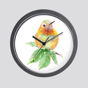 Rufous Hummingbird Watercolor Bird Nature Art Wall
