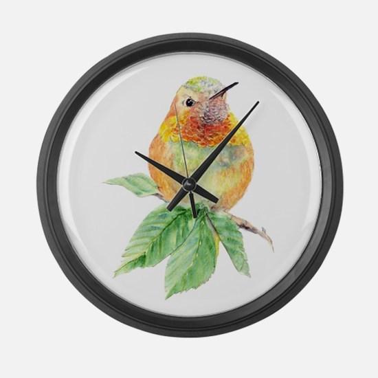 Rufous Hummingbird Watercolor Bird Nature Art Larg