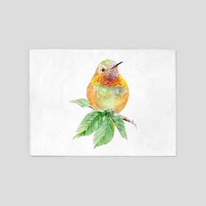 Rufous Hummingbird Watercolor Bird Nature Art 5'x7