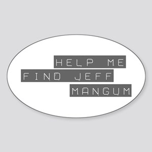 Jeff Mangum Oval Sticker