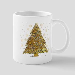 Metal Art Holiday Tree 2 11 oz Ceramic Mug