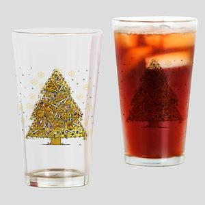 Metal Art Holiday Tree 2 Drinking Glass