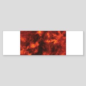 streaks of heat and red Bumper Sticker