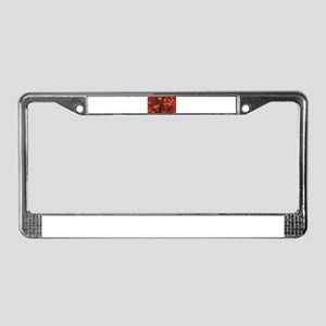 streaks of heat and red License Plate Frame
