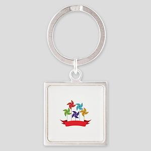 Pinwheel Banner Keychains