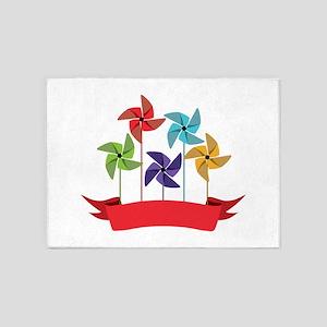 Pinwheel Banner 5'x7'Area Rug