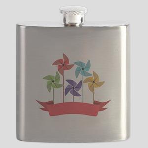 Pinwheel Banner Flask