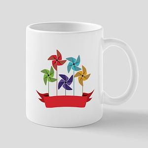 Pinwheel Banner Mugs