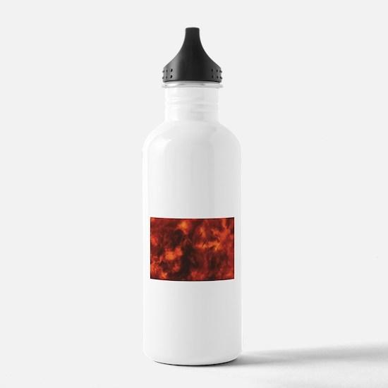 streaks of heat and re Water Bottle