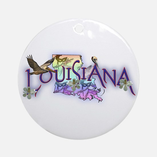 Louisiana Ornament (Round)