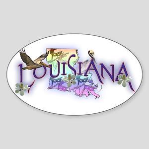 Louisiana Oval Sticker