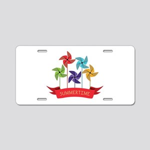 Summertime Aluminum License Plate