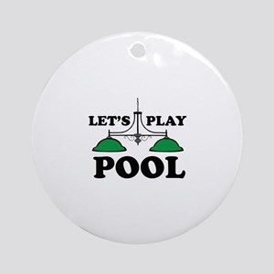 Lets Play Pool Ornament (Round)