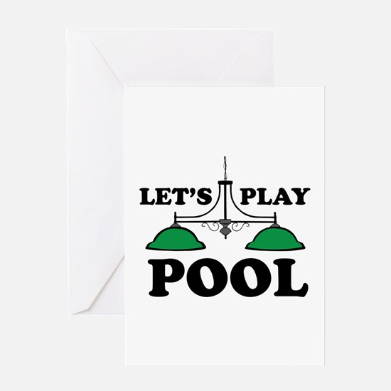 Lets Play Pool Greeting Cards