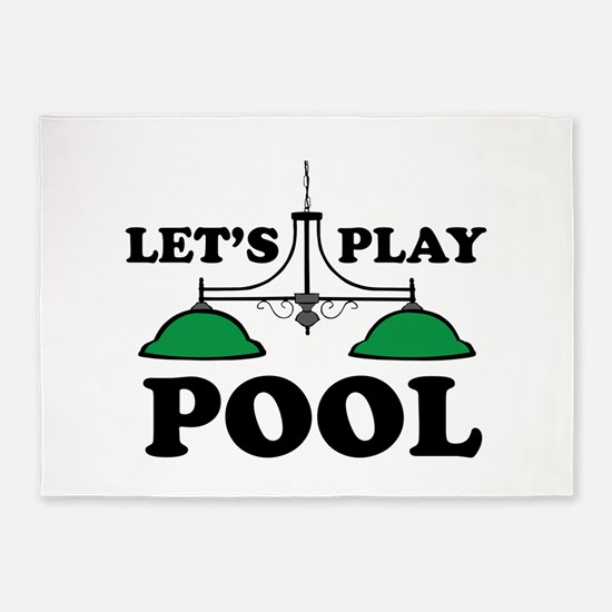 Lets Play Pool 5'x7'Area Rug