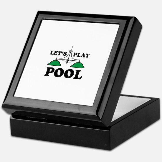 Lets Play Pool Keepsake Box