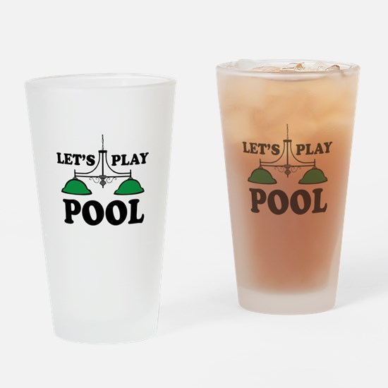 Lets Play Pool Drinking Glass