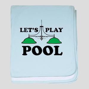 Lets Play Pool baby blanket