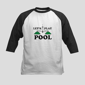Lets Play Pool Baseball Jersey