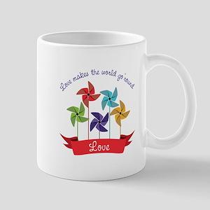 Love Makes The World Go Round Mugs