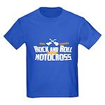 Rock and Roll Motocross Kids Dark T-Shirt