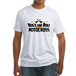 Rock and Roll Motocross Fitted T-Shirt