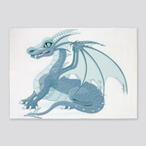 blue ice dragon 5'x7'Area Rug