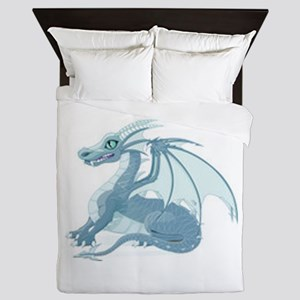Blue Ice Dragon Queen Duvet