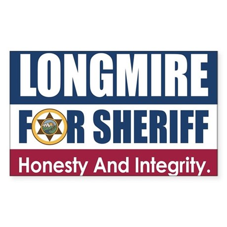 Longmire For Sheriff Sticker