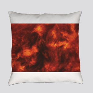 streaks of heat and red Everyday Pillow
