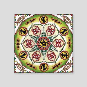 African Adinkra Mandala Sticker