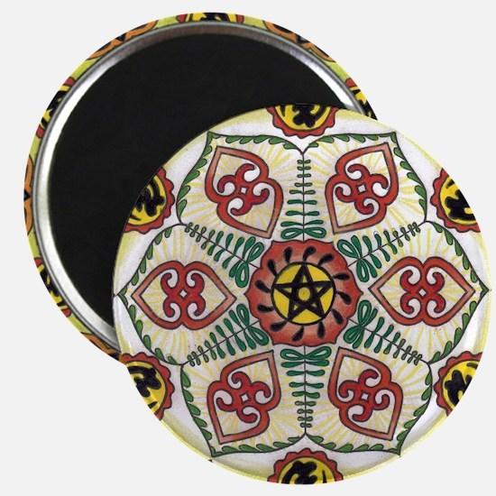 African Adinkra Mandala Magnets