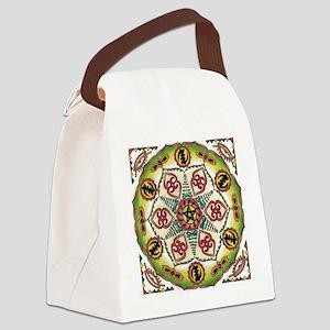 African Adinkra Mandala Canvas Lunch Bag