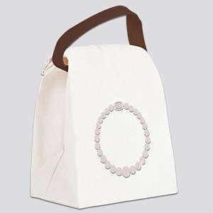 Pearl Necklace Canvas Lunch Bag