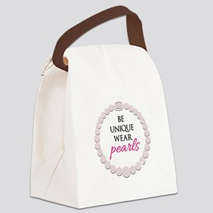 Be Unique Wear Pearls Canvas Lunch Bag