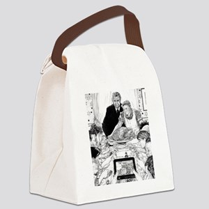 Modern Etiquette Canvas Lunch Bag