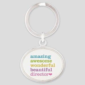 Amazing Director Oval Keychain