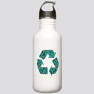 recycle symbol with planet earths on it Water