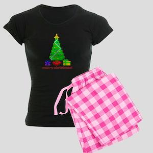 Bit Christmas Women's Dark Pajamas