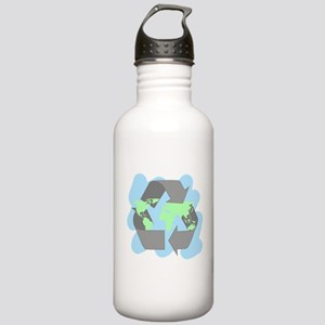 recycle for the planet (2) Water Bottle