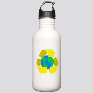 yellow recycle symbol around the earth Water B
